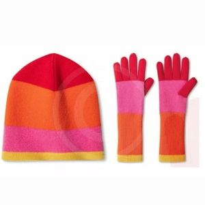 Isaac Mizrahi for Target Colorblock Hat and Gloves